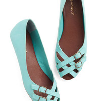 ModCloth Prancing in the Moonlight Flat in Turquoise