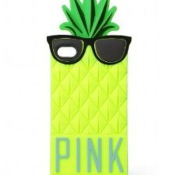 Amazon.com: Victoria's Secret PINK Pineapple iPhone 5 Soft, Durable Pull-On Case: Cell Phones & Accessories