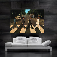 The Beatles Abbey Road poster print art huge big picture wall 8 parts HH10753 S34