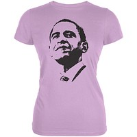 Obama - Silhouette Juniors Purple T-Shirt