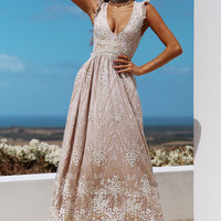 Gold On The Ceiling Maxi Dress Champagne