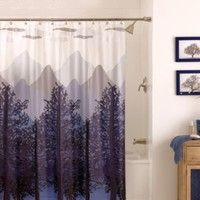 Misty Mountain 70-Inch x 72-Inch Shower Curtain