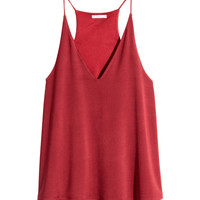 V-neck Camisole Top - from H&M