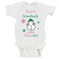 There's Snowbody Cuter Than Me Merry Christmas Gerber Onesuit ®