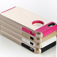 Gold iPhone Case - Tough iPhone Case - Shockproof case for iPhone 5 and 5s