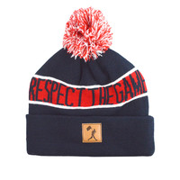 Respect the Game Beanie - Red, White, and Blue