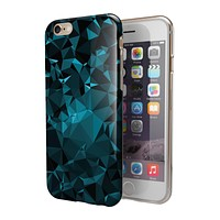 Turquoise and Black Geometric Triangles 2-Piece Hybrid INK-Fuzed Case for the iPhone 6/6s or 6/6s Plus