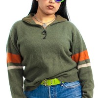 Vintage Y2K Utility Olive Sweater - One Size Fits Many