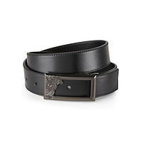 VERSACE Medusa Plaque Leather Belt