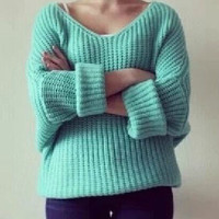 Candy color loose sweater