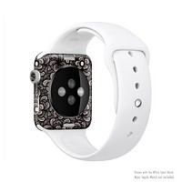 The Black Floral Lace Full-Body Skin Set for the Apple Watch