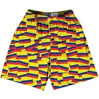 Tribe Colombia Party Flags Lacrosse Shorts