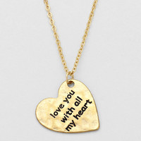 """I Love With All My Heart, To The Moon & Back"" Necklace Gold TWO FOR THE PRICE OF ONE!!!"