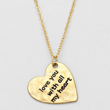 """""""I Love With All My Heart, To The Moon & Back"""" Necklace Gold TWO FOR THE PRICE OF ONE!!!"""