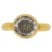 Museum Quality Antique Stuart 17th Century Rock Crystal Love Knot Ring