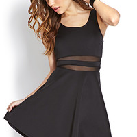 Bombshell Mesh Striped Dress