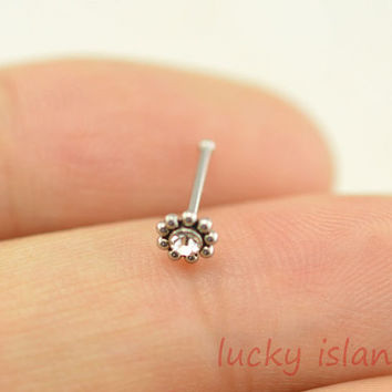 Sunflower Nose Ring 316l Surgical Steel From Luckyisland On Etsy