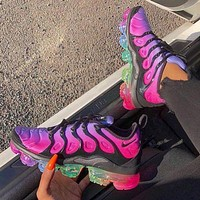 Bunchsun Nike Air Vapormax Plus Popular Woman Men Casual Running Sport Shoes Sneakers Rose Red