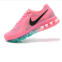 """NIKE"" Trending Fashion Air cushion of screen couple Casual Sports Shoes Pink(pink green soles"