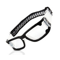 RIVBOS 1825 Safety Sports Glasses Protective Sports Goggles with Strap and Portable Case for Basketball Football Hockey Rugby Baseball Soccer Suitable for Men Women Kids Children Prescription Available (Black&White)
