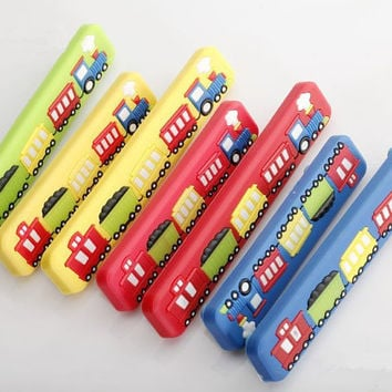 5 IN Childrens Kids Dresser Drawer Pulls Handles Knobs Red Blue Yellow Green Car Train / Cabinet Handle Pull Knob Furniture Hardware 128 mm