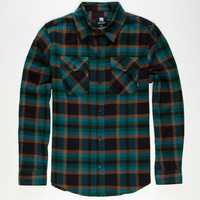 Elixir Rolling Stone Mens Flannel Shirt Teal Blue  In Sizes