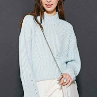 UNIF High-Neck Cropped Sweater-