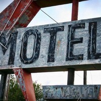 weathered vintage neon Motel sign Route 66 5x7 Route 66 photo