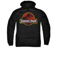 Jurassic Park Classic Logo Adult Pullover Hoodie