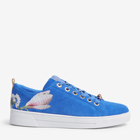TED BAKER Eryin harmony print suede trainers
