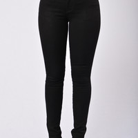 Worry Less Mid Rise Jean - Black