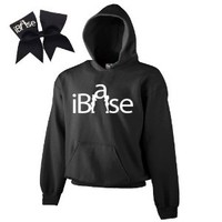 Black iBase Cheer ComBow- White Print (Adult Large)
