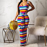 Fashionable Sexy Women's Dresses with Pit-and-Strip Printed Front Lace Dresses Only one piece Blue