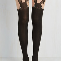 Quirky Hop in Your Tracks Tights by Pretty Polly from ModCloth