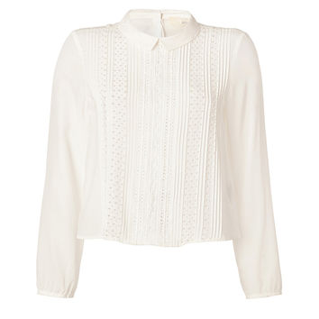 Vanessa Bruno Athé - Silk/Cotton Blouse in Ivory
