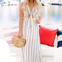 She's Got It Striped Maxi (Ivory)