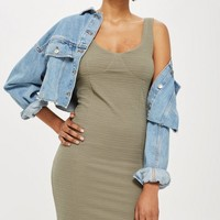 TALL Under Bust Rib Bodycon Dress | Topshop