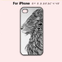 Lion Phone Case For iPhone 6 Plus For iPhone 6 For iPhone 5/5S For iPhone 4/4S For iPhone 5C-5 Colors Available