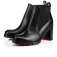 Marchacroche 70 Black Leather - Women Shoes - Christian Louboutin