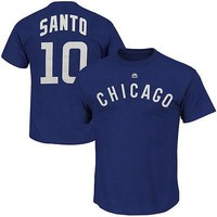 "RON SANTO Majestic ""Name & Number"" CHICAGO CUBS Adult T-Shirt"