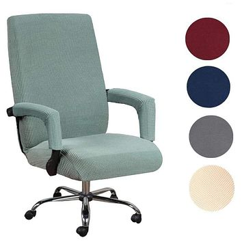 Elastic Office Lift Computer Chair Cover Modern Anti-dirty Boss Rotating Chair Seat Case Removable Thickened With Armrest Covers