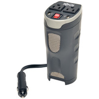 TRIPP LITE PV200CUSB 200-Watt Cup Holder PowerVerter(R) Ultracompact Car Inverter with 2 AC Outlets & 2 USB Charging Ports