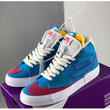Nike new high-top sneakers men and women contrast color casual sneakers