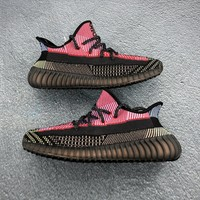 Adidas Yeezy Boost 350 V2 Black Red Reflective Running Shoes - Best Deal Online
