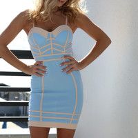 Sea Lion Corset Pale Blue Dress