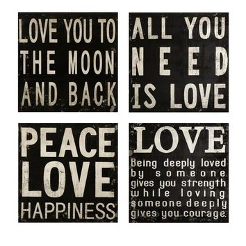Black and White Wall Quotes