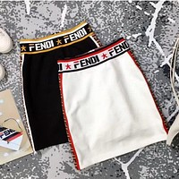 Fendi Women Girls Fashion Skirt Black White