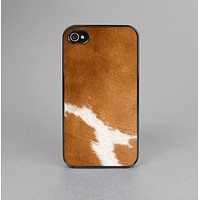 The Real Brown Cow Coat Texture Skin-Sert for the Apple iPhone 4-4s Skin-Sert Case
