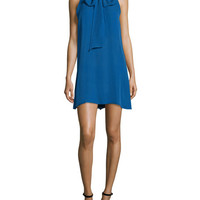 Alice + Olivia Cassidy Tie-Neck Shift Dress
