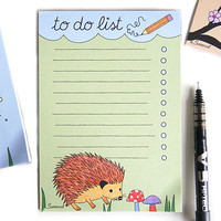 Happy Hedgehog Magnetic To Do List Pad